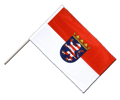 Hand Waving Flag PRO Hesse - 2x3 ft (60 x 90 cm)