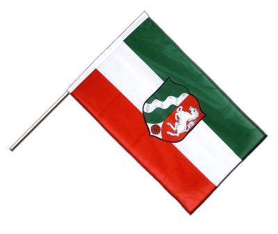 Hand Waving Flag PRO North Rhine-Westphalia - 2x3 ft (60 x 90 cm)