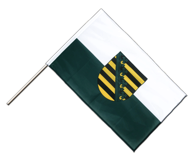 Hand Waving Flag PRO Saxony - 2x3 ft (60 x 90 cm)