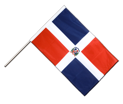 Hand Waving Flag PRO Dominican Republic - 2x3 ft (60 x 90 cm)