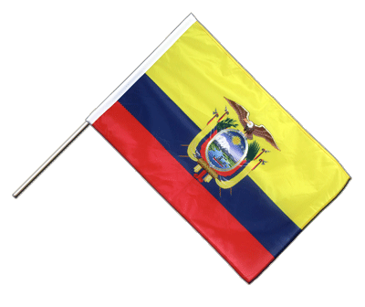 Hand Waving Flag PRO Ecuador - 2x3 ft (60 x 90 cm)