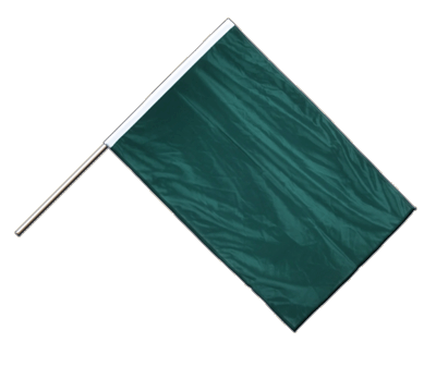 Hand Waving Flag PRO green - 2x3 ft (60 x 90 cm)