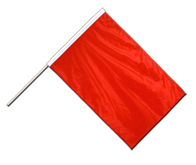 Hand Waving Flag PRO red - 2x3 ft (60 x 90 cm)