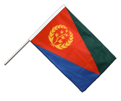 Hand Waving Flag PRO Eritrea - 2x3 ft (60 x 90 cm)