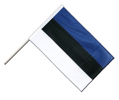 Hand Waving Flag PRO Estonia - 2x3 ft (60 x 90 cm)