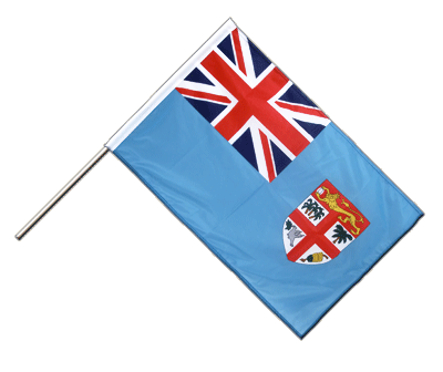 Hand Waving Flag PRO Fiji - 2x3 ft (60 x 90 cm)