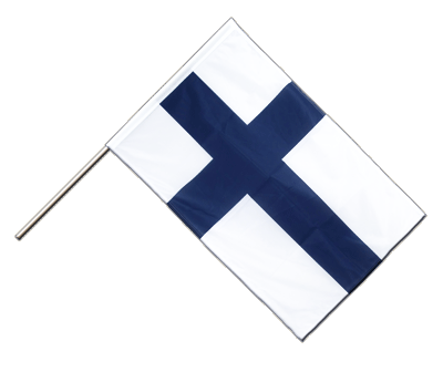Hand Waving Flag PRO Finland - 2x3 ft (60 x 90 cm)