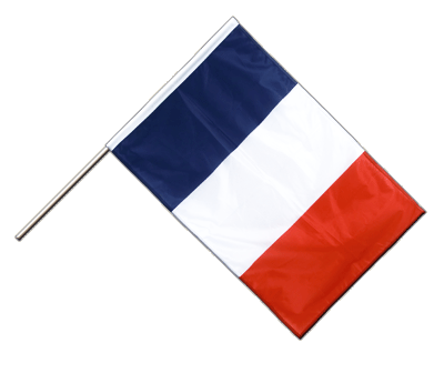 Hand Waving Flag PRO France - 2x3 ft (60 x 90 cm)