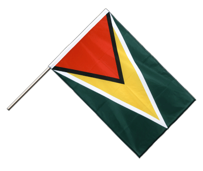 Hand Waving Flag PRO Guyana - 2x3 ft (60 x 90 cm)