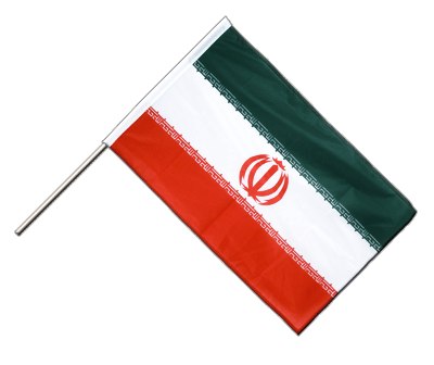 Hand Waving Flag PRO Iran - 2x3 ft (60 x 90 cm)