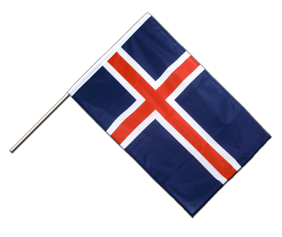 Hand Waving Flag PRO Iceland - 2x3 ft (60 x 90 cm)