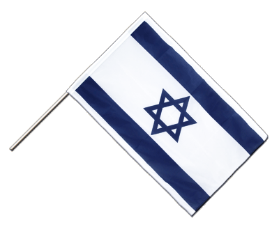 Hand Waving Flag PRO Israel - 2x3 ft (60 x 90 cm)