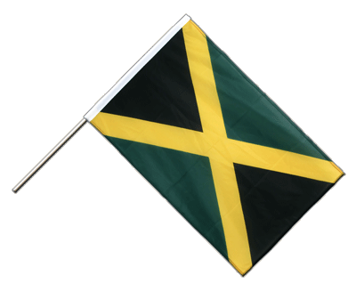 Hand Waving Flag PRO Jamaica - 2x3 ft (60 x 90 cm)