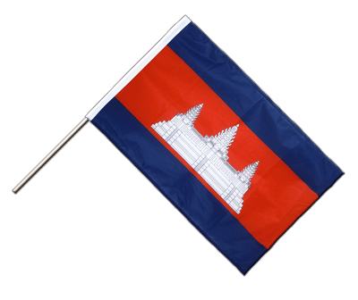 Hand Waving Flag PRO Cambodia - 2x3 ft (60 x 90 cm)