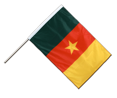Hand Waving Flag PRO Cameroon - 2x3 ft (60 x 90 cm)
