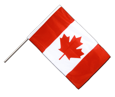 Hand Waving Flag PRO Canada - 2x3 ft (60 x 90 cm)