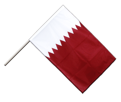 Hand Waving Flag PRO Qatar - 2x3 ft (60 x 90 cm)