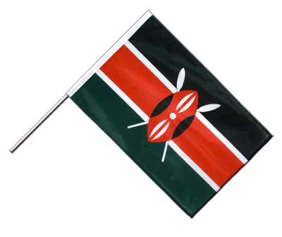 Kenya Hand Waving Flag PRO - 2x3 ft (60 x 90 cm)