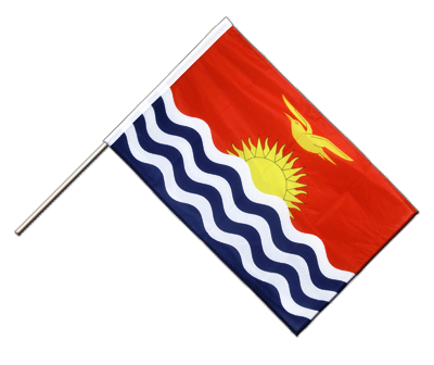 Hand Waving Flag PRO Kiribati - 2x3 ft (60 x 90 cm)