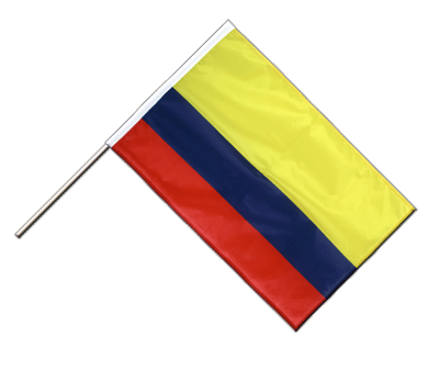 Hand Waving Flag PRO Colombia - 2x3 ft (60 x 90 cm)