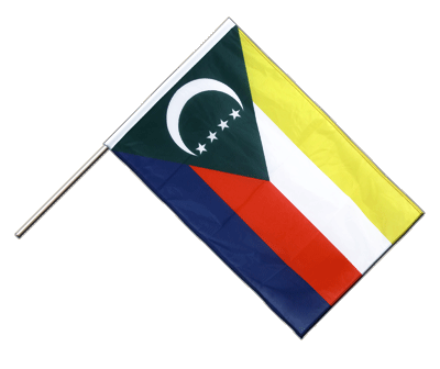 Hand Waving Flag PRO Comoros - 2x3 ft (60 x 90 cm)
