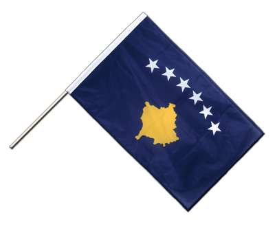 Hand Waving Flag PRO Kosovo - 2x3 ft (60 x 90 cm)