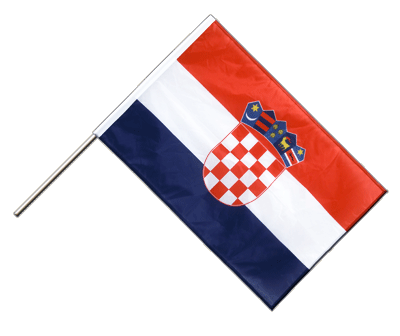 Hand Waving Flag PRO Croatia - 2x3 ft (60 x 90 cm)