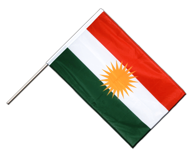 Hand Waving Flag PRO Kurdistan - 2x3 ft (60 x 90 cm)
