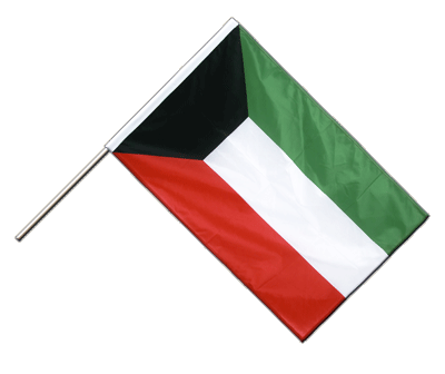 Hand Waving Flag PRO Kuwait - 2x3 ft (60 x 90 cm)