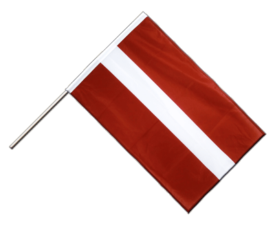 Hand Waving Flag PRO Latvia - 2x3 ft (60 x 90 cm)
