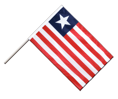 Hand Waving Flag PRO Liberia - 2x3 ft (60 x 90 cm)