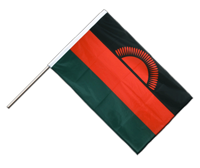 Hand Waving Flag PRO Malawi new - 2x3 ft (60 x 90 cm)