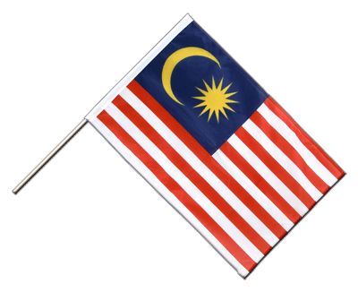 Hand Waving Flag PRO Malaysia - 2x3 ft (60 x 90 cm)