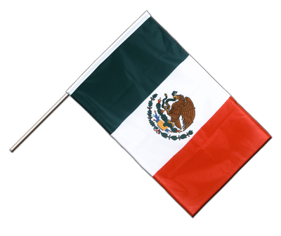Hand Waving Flag PRO Mexico - 2x3 ft (60 x 90 cm)