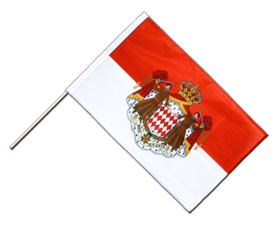 Hand Waving Flag PRO Monaco - 2x3 ft (60 x 90 cm)