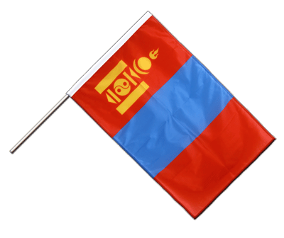 Hand Waving Flag PRO Mongolia - 2x3 ft (60 x 90 cm)