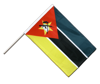 Hand Waving Flag PRO Mozambique - 2x3 ft (60 x 90 cm)