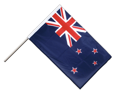 Hand Waving Flag PRO New Zealand - 2x3 ft (60 x 90 cm)