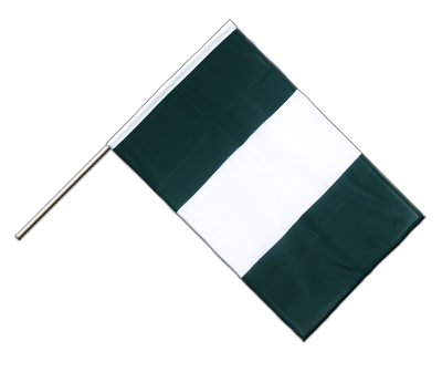 Hand Waving Flag PRO Nigeria - 2x3 ft (60 x 90 cm)