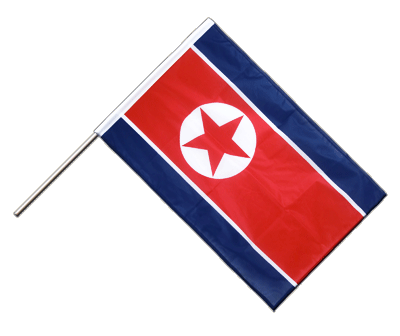 Hand Waving Flag PRO North corea - 2x3 ft (60 x 90 cm)