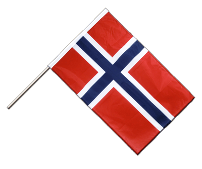 Hand Waving Flag PRO Norway - 2x3 ft (60 x 90 cm)