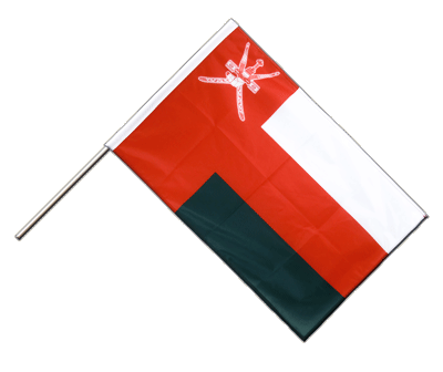 Hand Waving Flag PRO Oman - 2x3 ft (60 x 90 cm)