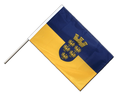 Hand Waving Flag PRO Lower Austria - 2x3 ft (60 x 90 cm)
