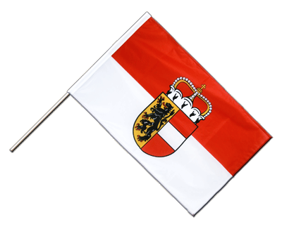Hand Waving Flag PRO Salzburg - 2x3 ft (60 x 90 cm)