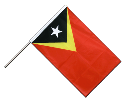 Hand Waving Flag PRO East Timor - 2x3 ft (60 x 90 cm)