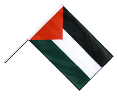 Hand Waving Flag PRO Palestine - 2x3 ft (60 x 90 cm)