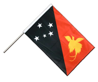 Hand Waving Flag PRO Papua New Guinea - 2x3 ft (60 x 90 cm)