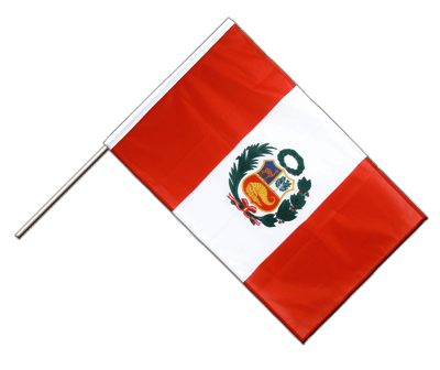 Hand Waving Flag PRO Peru - 2x3 ft (60 x 90 cm)