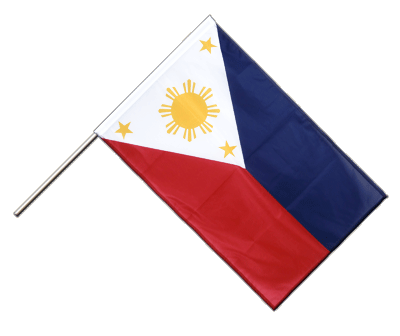 Hand Waving Flag PRO Philippines - 2x3 ft (60 x 90 cm)