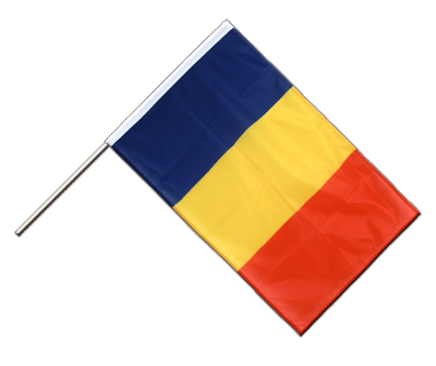 Hand Waving Flag PRO Rumania - 2x3 ft (60 x 90 cm)
